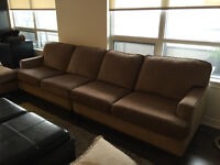 Excellent condition large couch set with chaise lounge