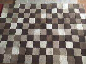 Brown rug 120 cm x 170 cm (4ft x 6ft)