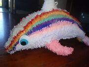 RAINBOW DOLPHIN PINATA SO COLORFUL AND PRITTY IT IS ADORABLE Kippa-ring Redcliffe Area Preview