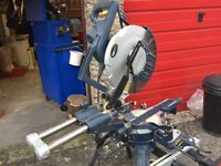 Compound Mitre chop saw on stand 240v