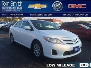 2013 Toyota Corolla CE   - Certified - BLUETOOTH -  LOW KMS - Lo