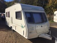 2004 AVONDALE DART 510-5 5 BERTH TOURING CARAVAN WITH AWNING AND MOTOR MOVERS