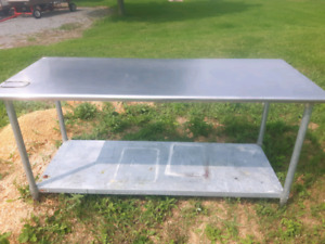 Stainless steel work table bench