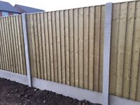🔨🌟The Best Quality Tanalised Heavy Duty Fence Panels Flat Top