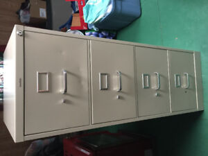 Metal file cabinet with keys