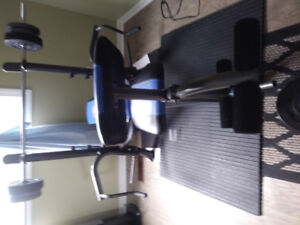 EXCERSICE BENCH FOR COMPLETE WORK OUT IN MINT CONDITION $225