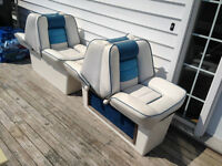 Back to back boat seats
