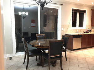 Hardwood 5 Piece Dining Table For Sale