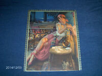 GYPSY CRYSTAL BALL DECK OF CARDS COLOR ART PRINT-1940/50S