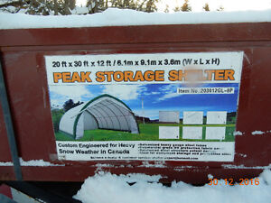 covered storage building
