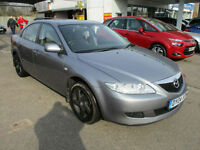 2004 04 MAZDA 6 2.0 TD 121 PS LOW 101K CRUISE 5 SPEED 2 KEYS SH FRESH MOT WOW GOOD MPG PX SWAPS