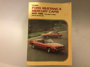 1979-1986 Ford Mustang Capri Fox Body Shop Manual SVO Turbo 5.0