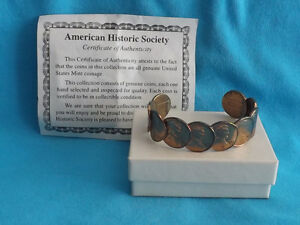 1963 Authentic USA Copper Penny Bracelet with Certificate