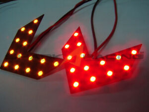 Shark Racing universal mirror LED turn signal set red