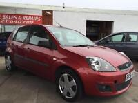 FORD FIESTA ZETEC CLIMATE 16V, Red, Manual, Petrol, 2006