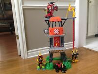 Rescue Heroes Command Center and Figurines