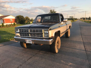 1985 Chevy truck runs and drives perfect real head turner