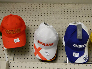 Hats by Country - $2.95
