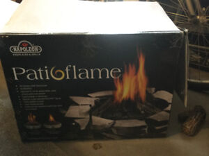 Propane patio flame gas fireplace one new $300 one used. $250