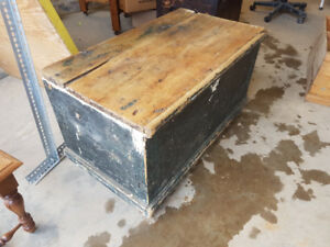 Very old antique wood shop / tool chest