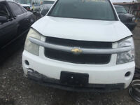 WHITE 2008 CHEVY EQUINOX FOR PARTS