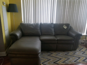 Free sectional with recliner from last boy