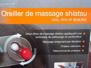 Oreiller de massage shiatsu