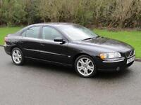 2005 Volvo S60 2.4 T5 SE Sport Manual 6 Speed 4 Door Saloon Black 260 bhp