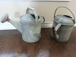antiques/vintage watering cans