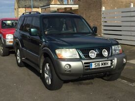 Mitsubishi shogun long wheel base 2003 7 seater full leather full spec no offers priced to sell