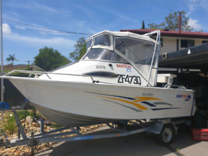 510 sea spirit quintrex with 80hp 4 stroke unleaded yamaha