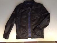 Superdry leather jacket xxl