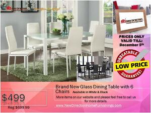 ◆Super Truckload Sale! Brand New 6PCS Solid Wood Dining Set@NEWD Edmonton Edmonton Area image 9