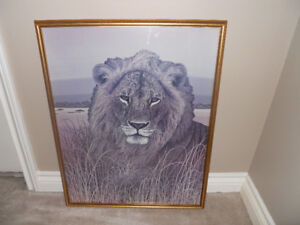 Lion in the Weeds - Wall Picture