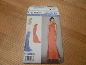 New in package sewing pattern for woman's formal gown