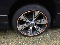 "18"" alloys 6 stud great tyres"