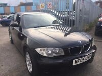 BMW 118 D 2.0 ES. DIESEL MANUAL 1 OWNER 2005 BLACK 1 OWNER