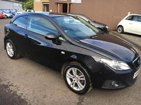 5808 Seat Ibiza 1.4 16v 85 Sport Coupe Black 3 Door 68683mls