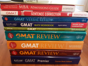 Compete GMAT book set with extras!!