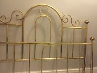 Vintage brass bed frame - double size