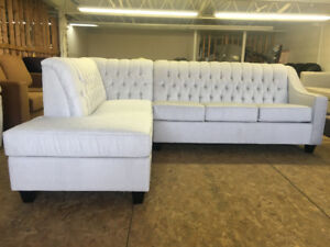 """ELEGANT TUFTED SECTIONAL 105"""" by 70"""" BRAND NEW CANADIAN MADE"""