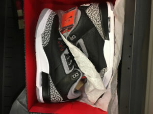 Air Jordan Retro 3 Cement Black DS size10.5