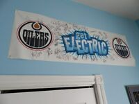 2006 Get Electric Oilers Signed Banner