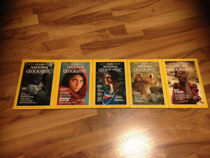 Assorted National Geographic (one with iconic photograph)