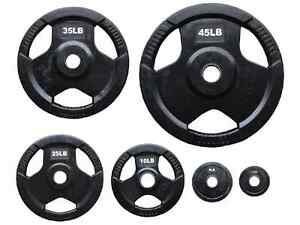 New in Box 3 Grip Rubber Olympic Plates for Sale (can drop off)