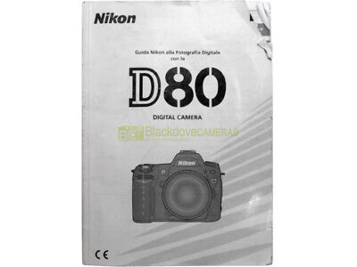 Manuale cartaceo originale x Nikon D80. Istruzioni in italiano. Originale.