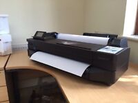 HP Designjet T120 printer A3 (used once)