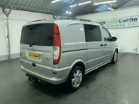 SILVER MERCEDES VITO 3.0 122 CDI DUALINER DIESEL *BUY TODAY FROM £312 P/MONTH*