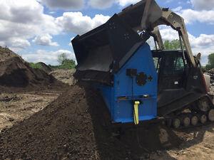 Topsoil / Gravel Screener for Skidsteers , Tractors , Excavators