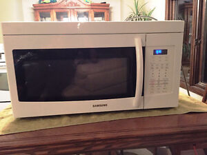 SAMSUNG OVER THE RANGE MICROWAVE OVEN WHITE